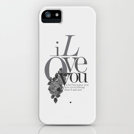 You Complete Me II - LOVE #society6 #love #buyart iPhone Case