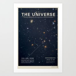 THE UNIVERSE - Space | Time | Stars | Galaxies | Science | Planets | Past | Love | Design Kunstdrucke