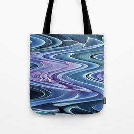 Turquoise marble wave design Tote Bag