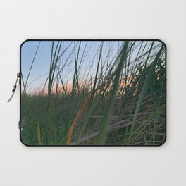 Grass Along Herring Cove Beach in Ptown at Sunset Laptop Sleeve