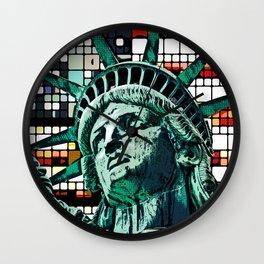 Patriotic Statue of Liberty Wall Clock