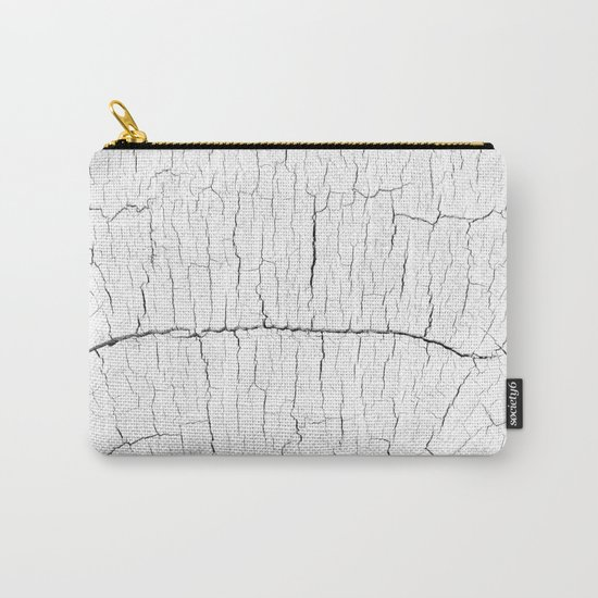 White Wood Carry-All Pouch