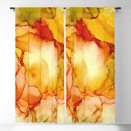 Candy Corn: Original Abstract Alcohol Ink Painting Blackout Curtain