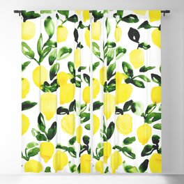 Summer Lemons Blackout Curtain