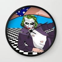 heroes Wall Clocks featuring super heroes by mark ashkenazi