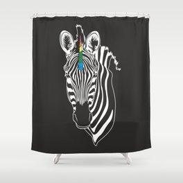 zebracorn Shower Curtain
