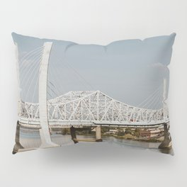 Louisville Bridges on the Ohio River Pillow Sham