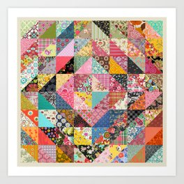 Grandma's Quilt Art Print