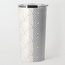 Geometric Bicolore Luxury Travel Mug