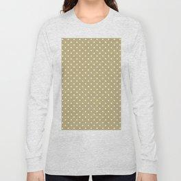 Dots (White/Sand) Long Sleeve T-shirt