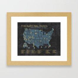 The National Parks: Adventurer's Guide Framed Art Print