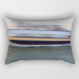 Fast Boat Past Alcatraz Rectangular Pillow