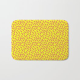 Vintage Retro 1980s 80s New Wave Radical Neon Wiggle Bath Mat