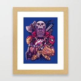 Wild Thanos Framed Art Print
