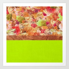 Layers Floral Lime Art Print