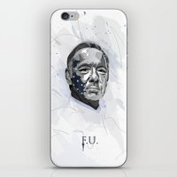 house of cards iPhone & iPod Skins featuring House of Cards - Frank Underwood by teokon
