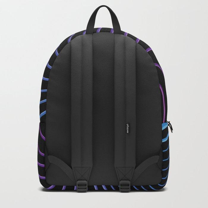 Neon Waves Backpack