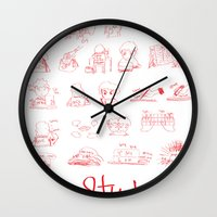 study Wall Clocks featuring Study... by David Nuh Omar