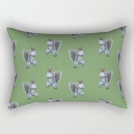 Tai Chi Squirrel Rectangular Pillow