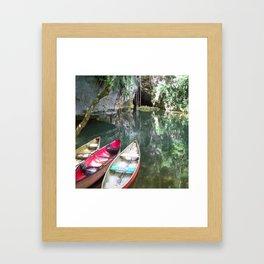 Journey to the Underworld via Belize Cave Framed Art Print