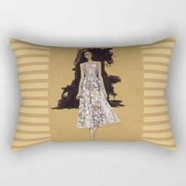 A Modern Wedding Dress Rectangular Pillow