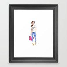 Bien Watercolor Framed Art Print