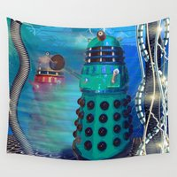 dalek Wall Tapestries featuring Journey's End - Dalek Wall Art by Moonlake Designs