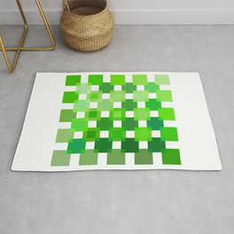 50 / 114 Squares of GREEN - Living Hell Rug
