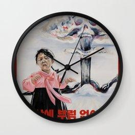 Nuclear Warfare in North Korea Wall Clock