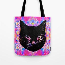 Glitch Streak Quad Cat Tote Bag