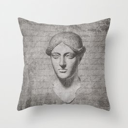 ANCIENT / Head of a Woman Throw Pillow