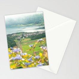 Sete Cidades crater lake Stationery Cards
