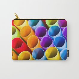 Macro Colorful Straws Carry-All Pouch