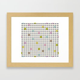 Colorful Dots Framed Art Print