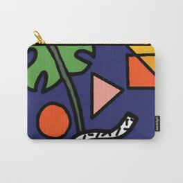 Geometric Monstera Jam Carry-All Pouch
