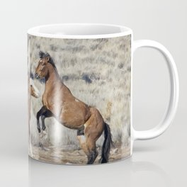 Bachelor Stallions Practicing the Art of Fighting, No. 1 Coffee Mug