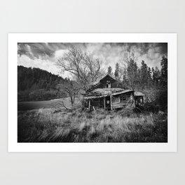 Abandoned House in Oregon Art Print