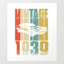 Vintage Retro 1939 T-Shirt Art Print