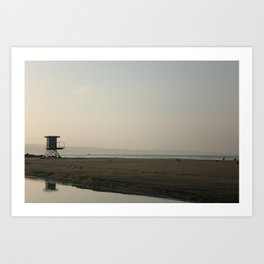 Sunrise at the coast Art Print