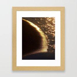 Golden sand II Framed Art Print