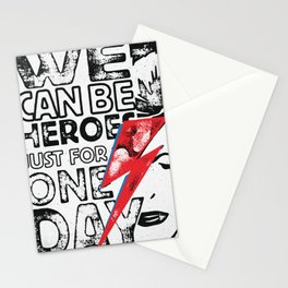We Can Be Heroes Just For One Day Stationery Cards