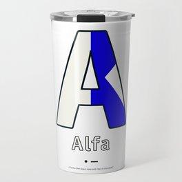 Alfa - A - Navy Alphabet Travel Mug