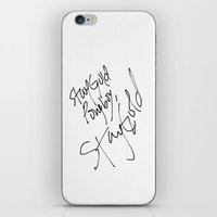 stay gold iPhone & iPod Skins featuring Stay Gold by Visionary Soul Designs