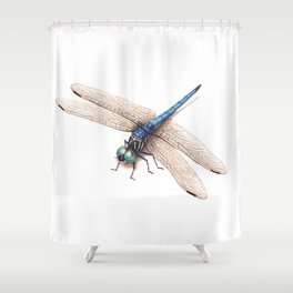Dragonfly by Lars Furtwaengler   Colored Pencil / Pastel Pencil   2014 Shower Curtain