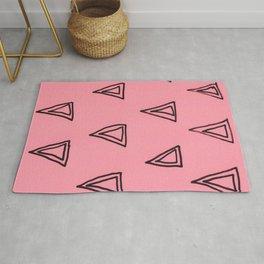 Pink Triangle Patern Rug