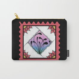 Fescu Tile on Pink Carry-All Pouch
