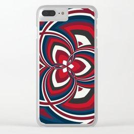 Spiral Rose Pattern A 1/4 Clear iPhone Case