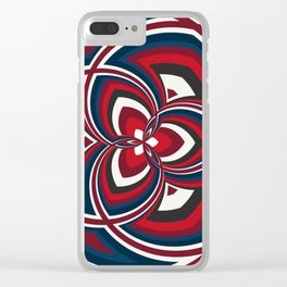 Spiral Rose Pattern A 1/4 Clear iPhone Case