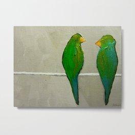 The Early Birds (love birds) Metal Print