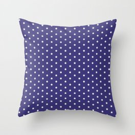 dotted pattern variation with stars Throw Pillow